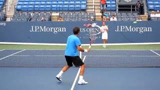 【テニス】フェデラーの振らないボレーがやばい!フォームが美しい