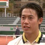 錦織圭インタビュー(1回戦終了後オンコート)/全仏オープンテニス2020【WOWOW】
