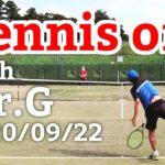 テニスオフ 2020/09/22 シングルス 中級前後 Tennis with Mr.G Men's Singles Practice Match Full HD