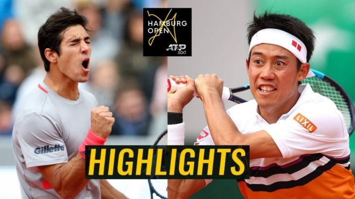 Christian Garin vs Kei Nishikori 錦織圭 Highlights HAMBURG 2020