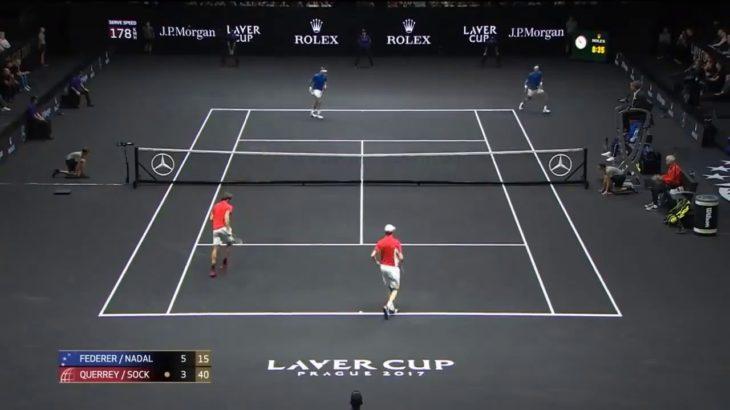 Federer (フェデラー) – Nadal (ナダル)VS Querrey – Sock Laver Cup