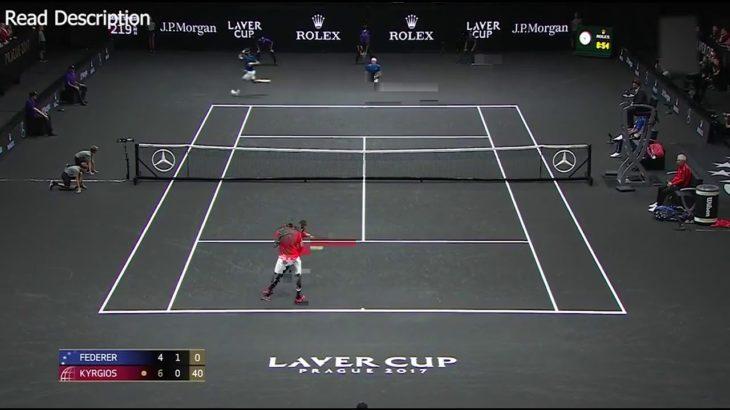 Federer (フェデラー) VS Kyrgios (キリオス)