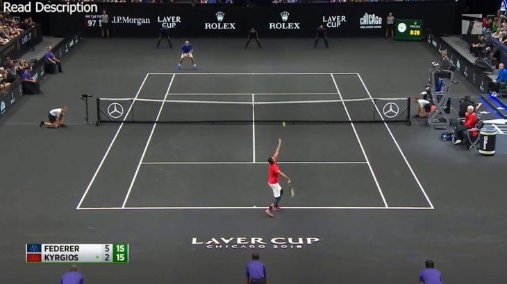 Federer (フェデラー) VS Kyrgios (キリオス) Laver Cup 2018
