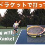 Playing Tennis with Wood Tennis Racket / ウッドラケットでテニスしてみました