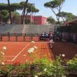 Rome 2020 Rafael Nadal practice court level side view