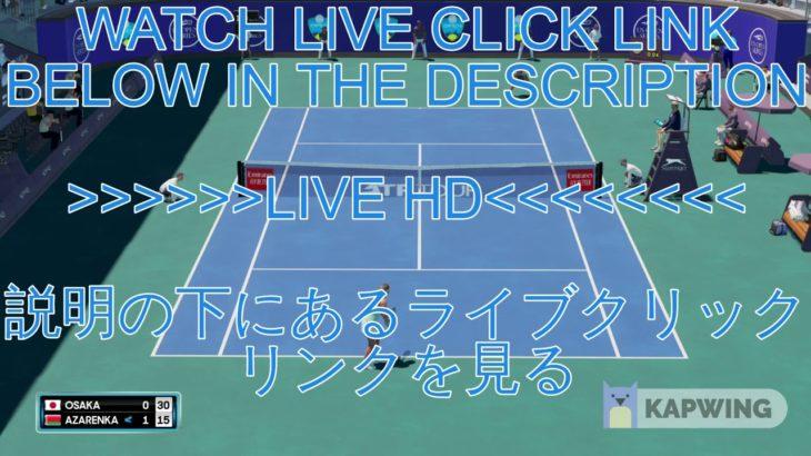 @[TENNIS]@!~大坂なおみ vs ビクトリア・アザレンカ 生放送 全米オープンテニス2020 決勝