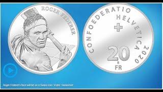 スイス、フェデラーの記念金貨を発行