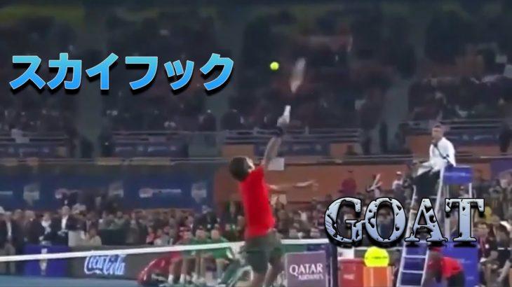 【テニス】ロジャー・フェデラー|絶品スキルまとめ《バナナショット/ダンクショット/スカイフック》