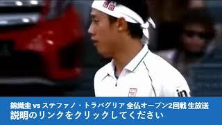 錦織圭 vs ステファノ・トラバグリア 全仏オープン2回戦 生放送