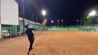 19歳大学生テニス部員のラリー| Stroke practice 【Tennis vlog】
