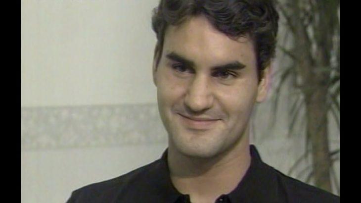 フェデラーのインタビューと羽子板プレー(2006年ジャパンオープン)(Roger Federer's 2006 Japan Open interview and battledore play)