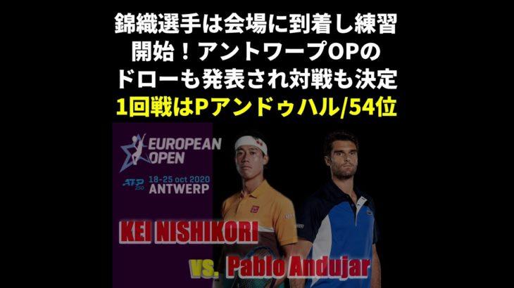 アントワープヨーロピアンオープン2020 ドローが発表・錦織圭の1回戦の対戦相手が決定!!
