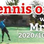 テニスオフ 2020/10/03 シングルス 中級前後 Tennis with Mr.W Men's Singles Practice Match Full HD