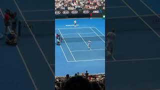 AO2019 Roger Federer vs Daniel Evans warming up フェデラーvsエバンス