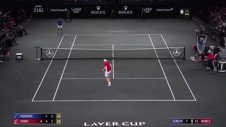 Federer (フェデラー) v Isner  Laver Cup 2019