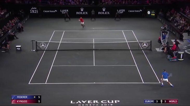 Federer (フェデラー) v Kyrgios (キリオス)  Laver Cup 2019