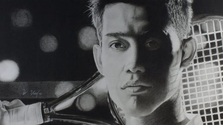 鉛筆画 錦織 圭〈JACCS〉[Kei Nishikori & JACCS Pencil drawing]