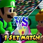 Mario Tennis (Nintendo 64), Intro + Doubles Exhibition Gameplay