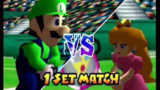 Mario Tennis (Nintendo 64), Intro + Doubles Exhibition Gameplay