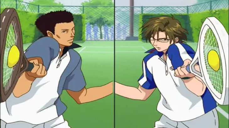 テニスの王子様 OVA 全国大会編 #10 –  大下vs桃四郎 – Oshitari vs Momoshiro – Prince of Tennis: National Championship