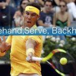 Rafael Nadal Special Forehand Serve Backhand movie(ナダルのフォアハンド、サーブ、バックハンド動画)