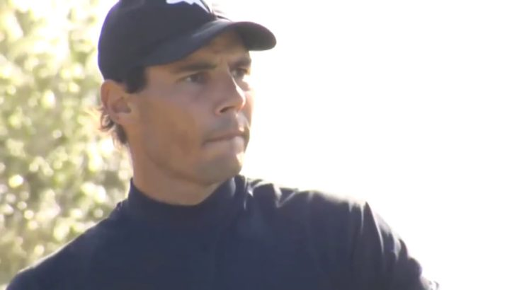 Rafael Nadal at the Balearic Golf Championship 2020 in Mallorca