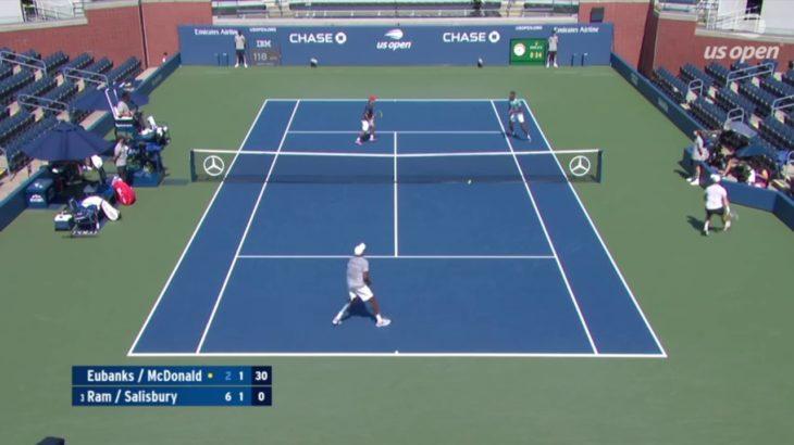 Tennis Doubles return of serve テニスダブルスの試合でのリターン特集