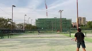 【テニス】サーブからのバックハンドアプローチ|Tennis:Serve and Backhand approach
