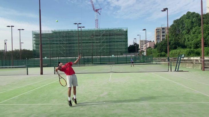 【Tennis】Single Match Practice | フォアが苦手な男のポイント練習【テニス】