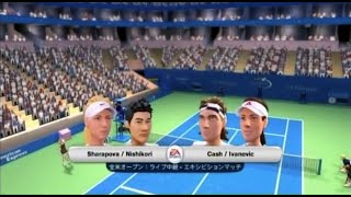 (Wii) EA SPORTS Grand Slam Tennis  錦織圭・シャラポワ 対 キャッシュ・イバノビッチ  (Game-10)