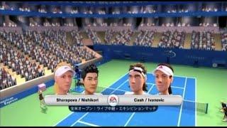 (Wii) EA SPORTS Grand Slam Tennis  錦織圭・シャラポワ 対 キャッシュ・イバノビッチ  (Game-10)