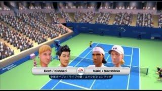 (Wii) EA SPORTS Grand Slam Tennis  錦織圭・エバート 対 ナダル・ナブラチロワ  (Game-11)