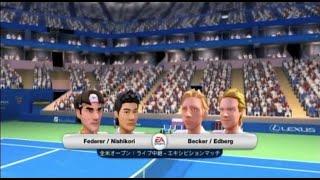 (Wii) EA SPORTS Grand Slam Tennis   錦織・フェデラー vs ベッカー・エドベリ (Games-9)