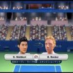 (Wii) EA SPORTS Grand Slam Tennis   錦織 vs  ベッカー    (Nishikori vs  Becker  )  (Game-01)