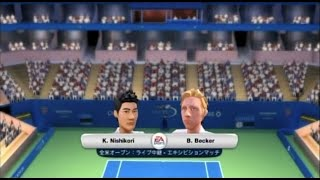 (Wii) EA SPORTS Grand Slam Tennis   錦織 vs  ベッカー    (Nishikori vs  Becker  )  (Game-01)