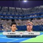 (Wii) EA SPORTS Grand Slam Tennis   錦織 vs  ボルグ     (Nishikori vs  Borg )  (Game-3)