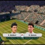 (Wii) EA SPORTS Grand Slam Tennis   錦織圭vs ジョコビッチ(Nishikori vs Djokovic)  (Game-05)
