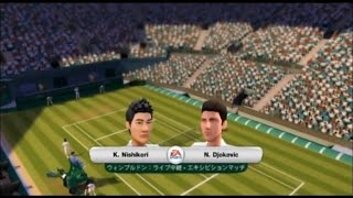 (Wii) EA SPORTS Grand Slam Tennis   錦織圭vs ジョコビッチ(Nishikori vs Djokovic)  (Game-05)