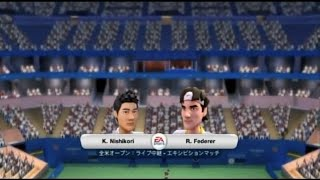 (Wii) EA SPORTS Grand Slam Tennis   錦織 vs フェデラー   (Nishikori vs  Federer )  (Game-04)