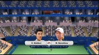 (Wii) EA SPORTS Grand Slam Tennis   錦織 vs ナブラチロワ (Nishikori vs Navratilova)  (Game-06)