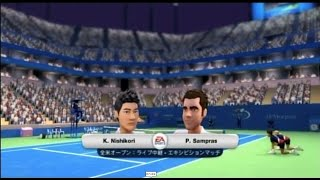 (Wii) EA SPORTS Grand Slam Tennis   錦織 vs サンプラス   (Nishikori vs  Sampras )  (Game-02)