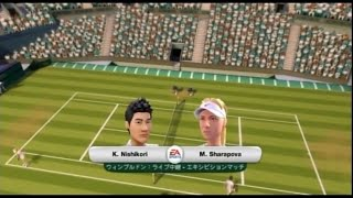 (Wii) EA SPORTS Grand Slam Tennis   錦織 vs シャラポワ  (Nishikori vs Sharapova)  (Game-8)