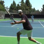tennis volley practice 1 テニスのボレーの練習1
