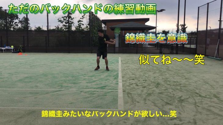 テニス [バックハンドが上達した理由は錦織圭意識!?] ただのバックハンドの練習動画