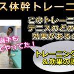 プロトレーナー直伝!錦織選手もやってるテニス体幹トレーニング説明動画