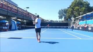2017オーストラリアンオープンでのフェデラーの練習(コートレベル)