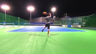 【テニス】沖縄県に住む一般男性が錦織圭に憧れてテニスをする動画🎾