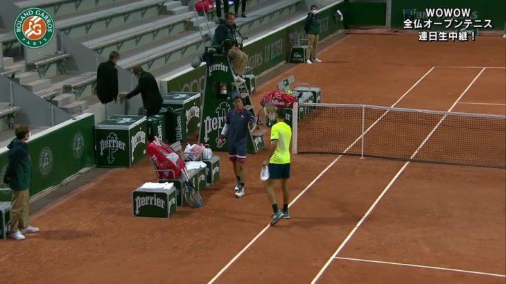【マッチハイライト】錦織 圭 vs ステファノ・トラバグリア/全仏オープンテニス2020 2回戦【WOWOW】