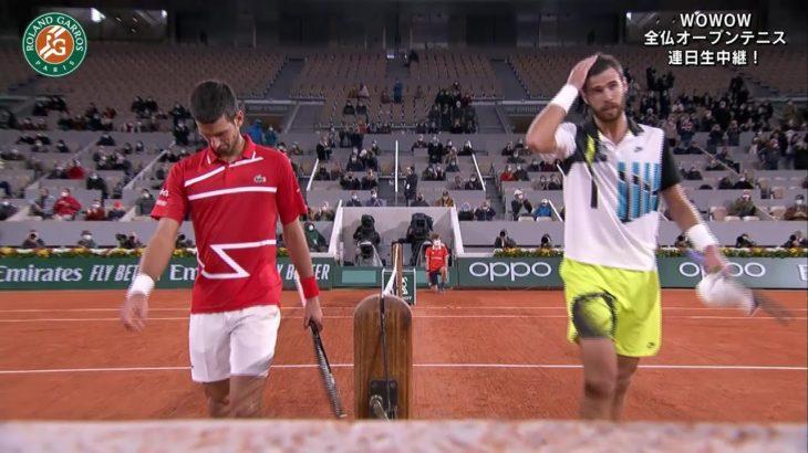 【マッチハイライト】ノバク・ジョコビッチ vs カレン・ハチャノフ/全仏オープンテニス2020 4回戦【WOWOW】