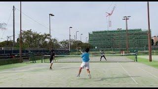 【テニス】シンプルにダブルス練習でボコられる大学生19歳   Tennis Doubles Practice:Completely Defeated
